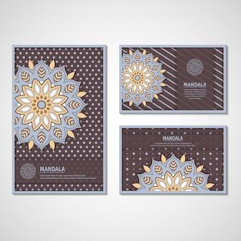 Set kaarten met mandala.