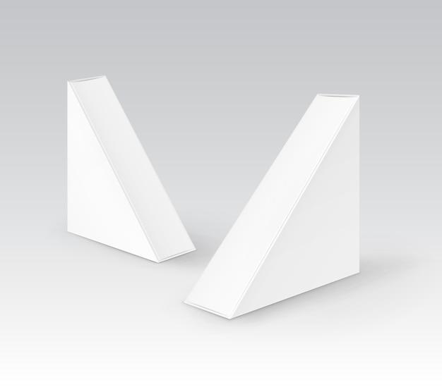 Set kartonnen driehoeksdozen voor sandwich