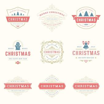 Set kerst citaten logo's