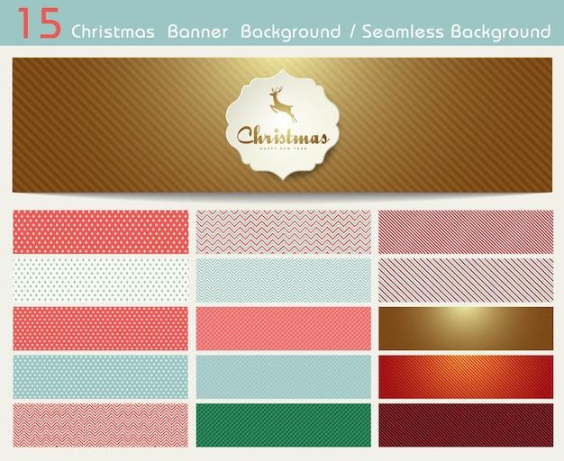 Set kerst patronen en naadloze achtergrond. illustratie eps10