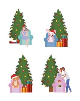 Set kerstbomen en speelgoed