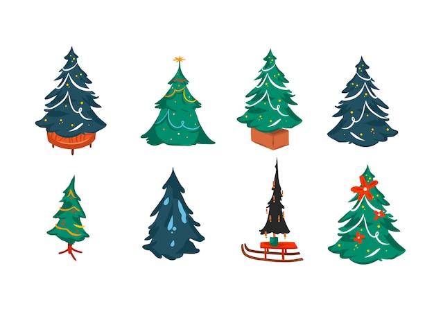 Set kerstbomen