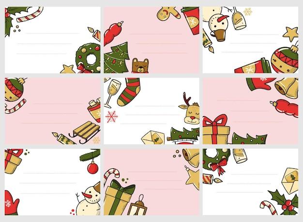 Set kerstlabels en -tags
