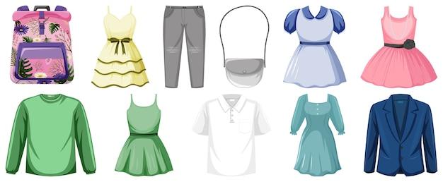 Set kleren illustratie
