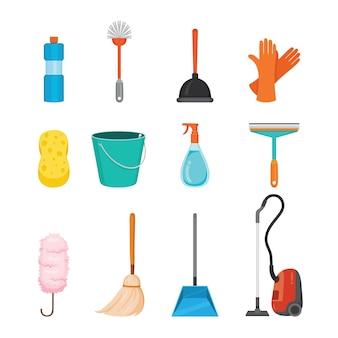 Set kleren schoonmaken apparatuur, wasserij, toestellen voor huishoudster