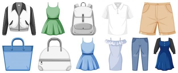 Set kleren Premium Vector