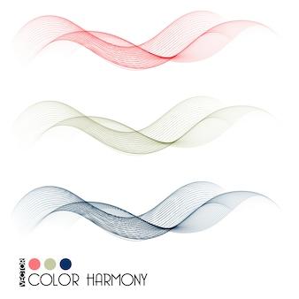 Set kleur kromme lijnen