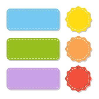 Set kleur lege stickers.