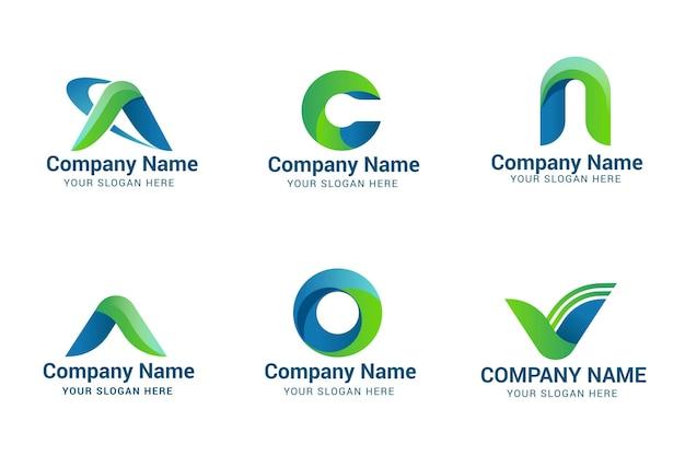 Set kleurovergang een logo-sjablonen
