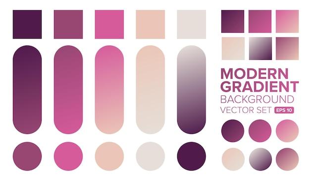 Set kleurovergang kleuren illustratie