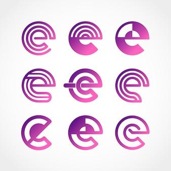 Set kleurovergang o logo sjablonen