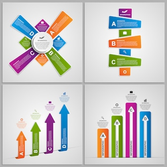 Set kleurrijke infographics ontwerpelementen.