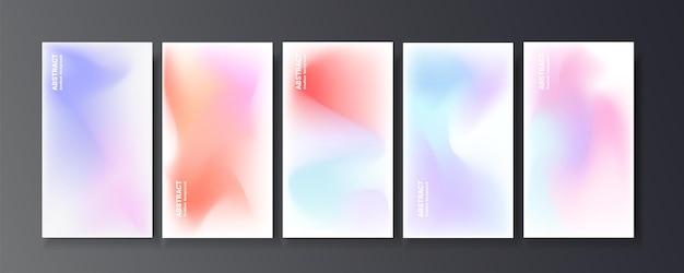Set kleurrijke wazig verloopset