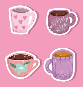 Set koffiekopjes