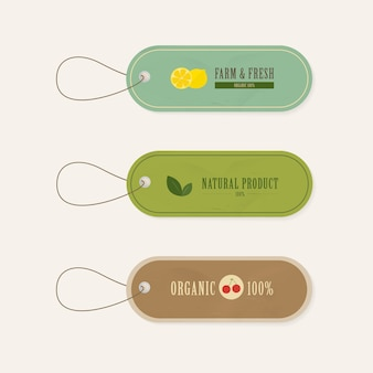 Set label labels vintage stijl natuurlijke banner.