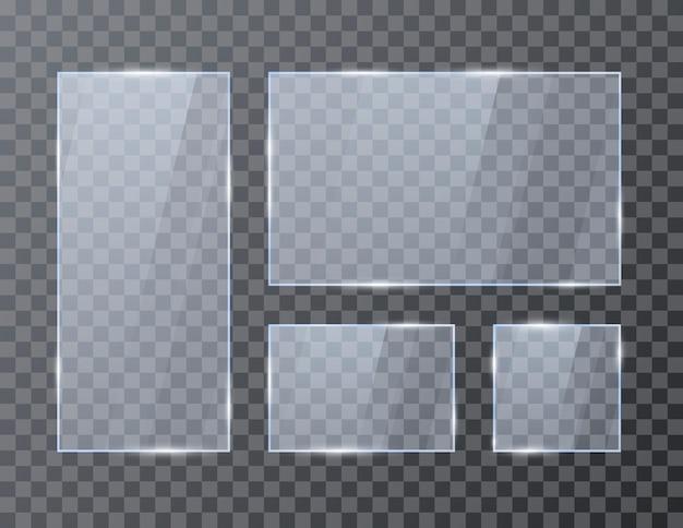 Set lege geometrische glasframes