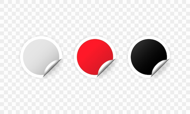 Set lege promotionele ronde cirkel-tags