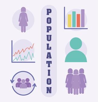 Set leuke populatie-items