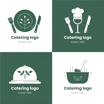 Set lineaire platte cateringlogo's