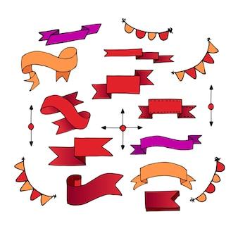 Set linten. vectorillustratie van verschillende kleuren.