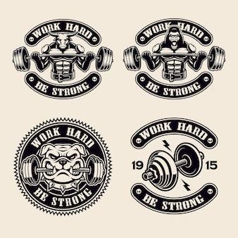 Set logo's geïsoleerd op het wit
