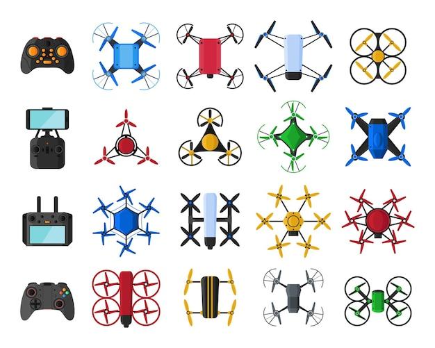 Set luchtdrones en drones met afstandsbediening
