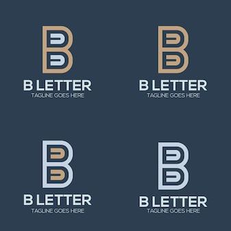 Set luxe eerste letter b logo afbeelding voor uw bedrijf