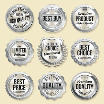 Set luxe retail badges
