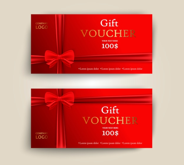 Set luxe rode cadeaubonnen met linten en boog.