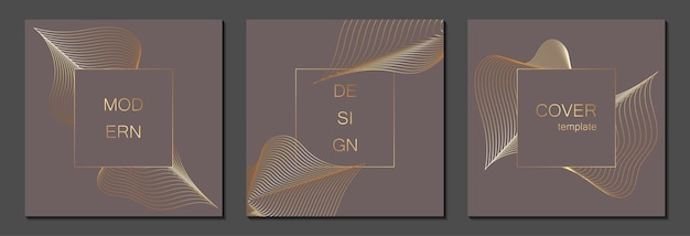 Set luxe voorbladsjablonen. vectoromslagontwerp voor posters, banners, flyers, presentaties en kaarten