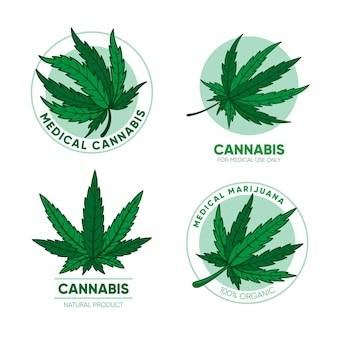 Set medische cannabis badges