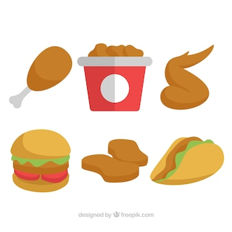 Set menu's met gebakken kip