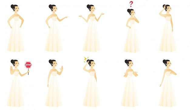 Set met bruid karakter.