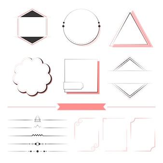 Set met ontwerpelementen vector