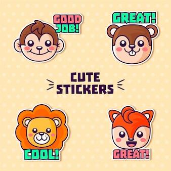 Set met stickers voor goed werk en geweldig werk
