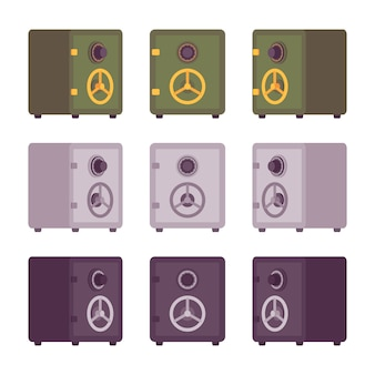 Set metalen kluizen