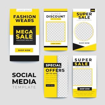 Set moderne verkoop instagram verhalen sjablonen