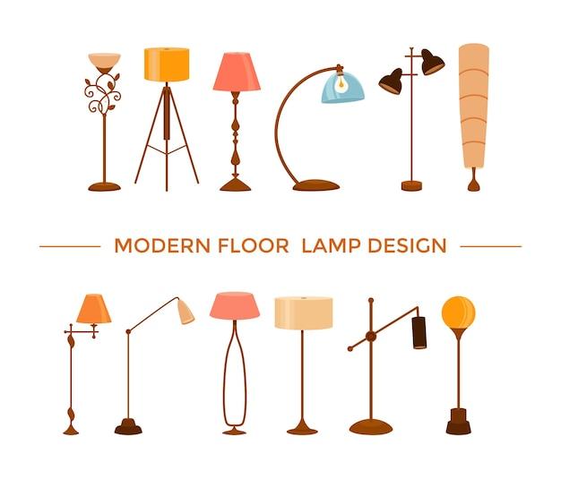 Set moderne vloerlampontwerpen