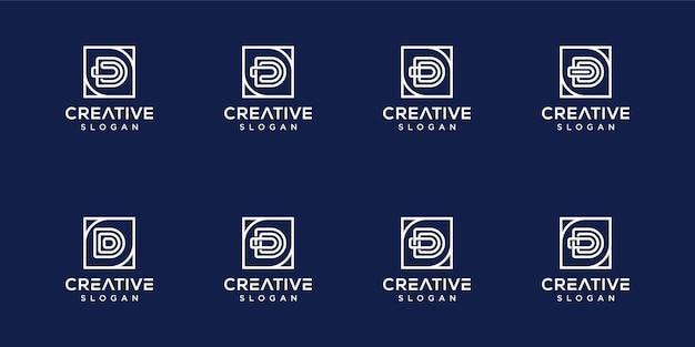 Set monogram letter d logo sjabloon