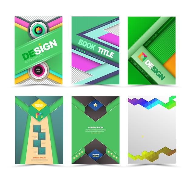 Set of flyer, brochure ontwerpsjablonen.