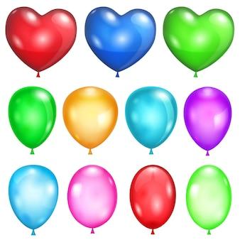 Set ondoorzichtige ballonnen in verschillende kleuren
