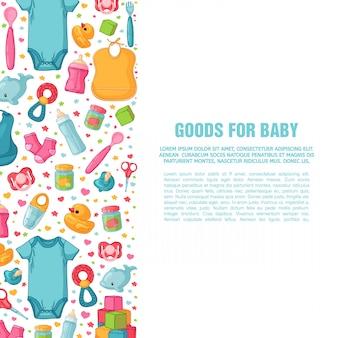 Set ontwerpsjablonen voor verticale banners met kinderpatronen.