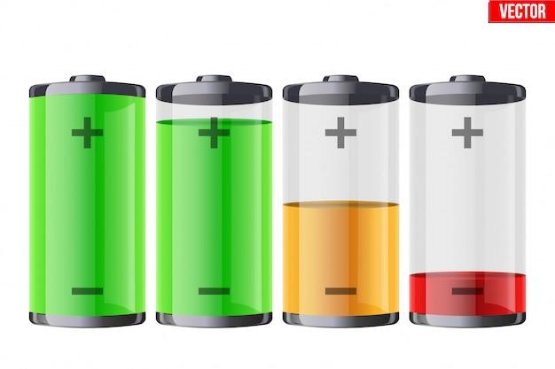 Set oplaadbare batterijen met indicatie