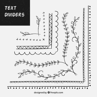 Set ornamenten voor tekst