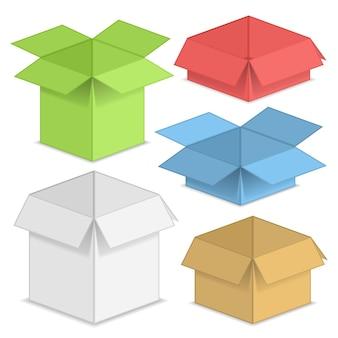 Set papieren dozen