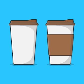 Set papieren koffiekopjes