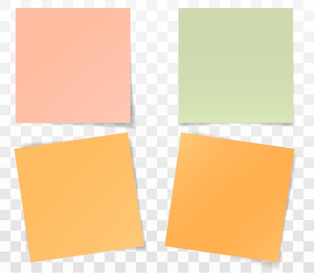Set papieren stickers voor notities