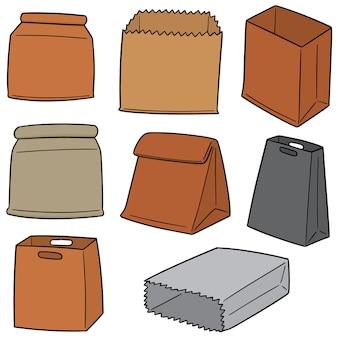 Set papieren zakken