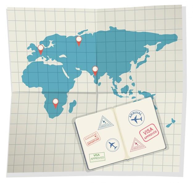 Set paspoorten en instapkaart