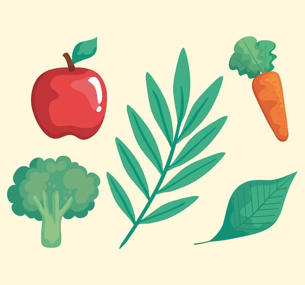 Set pictogrammen met groenten